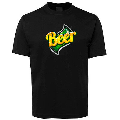 New Black Cool Beer T Shirt 100% Cotton Size S -5XL +7XL