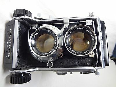 Mamiya C3 Professional 6x6 Film TLR Camera with Sekor 105/3.5 Japan Exc  894C