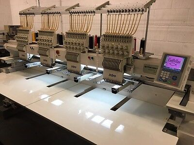 Inbro 4 Head 12 Needle Commercial Multihead Embroidery Machine