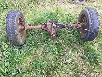 MGB Rear Axle Complete With Brakes And Wheels