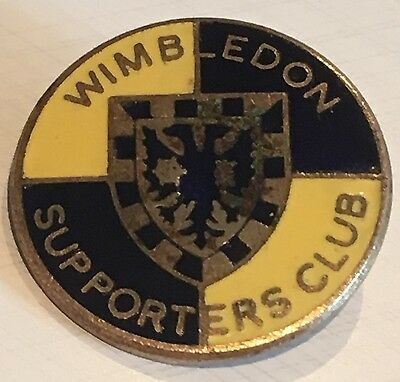 Wimbledon Afc Vintage Supporters Club Badge Brooch Pin