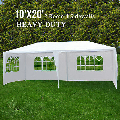 10'x20' Heavy Duty Canopy Party Wedding Tent Outdoor Gazebo Pavilion Cater Event