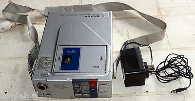 1982 Sharp Vc-220N Vhs-C Compact Video Cassette Recorder Unit W/ Power Supply