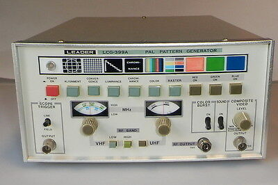LEADER PAL Pattern Generator LCG-399A RF with Sound, Composite Video
