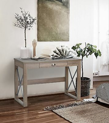 Modern Computer Desk With Drawer Home Workstation Furniture Retro Console Table