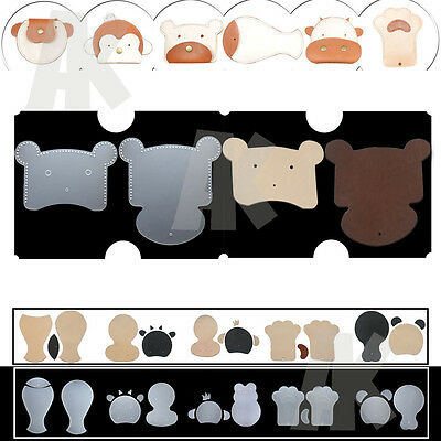 6 Animals Coin Purse Pattern Clear Leather DIY PVC Module Template and Leather
