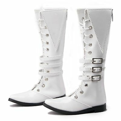 [wamami] 1/4 White Synthetic Leather Boots Shoes For MSD BJD AOD Dollfie