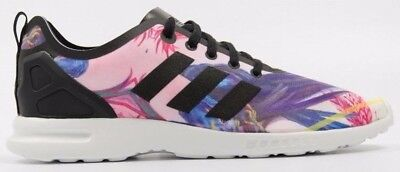 RRP £69.99 adidas Originals ZX Flux Trainers Pink Purple Blue White Black
