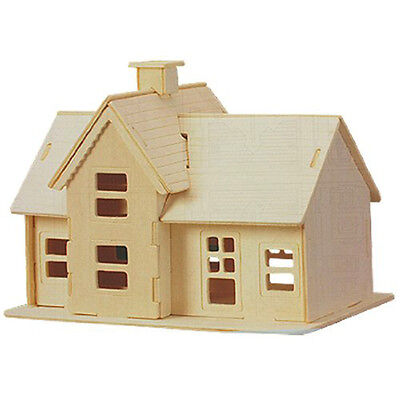 New Children 3D Wooden Country Station Model Puzzle Toy Construction Kit Gi Y3X3