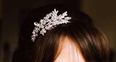 Bridal tiara/headband, handmade, vintage-style (Richard Designs)