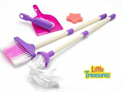 Girls Fun Pretend Play Little Helper Toy Kids Mini Sized Cleaning Play Set Gift