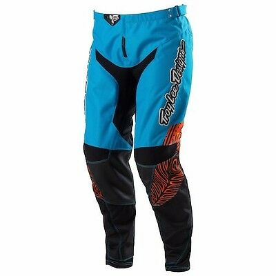 Troy Lee Womens Motocross Downhill MTB Pant Trousers Savage Blue/Orange Size 14