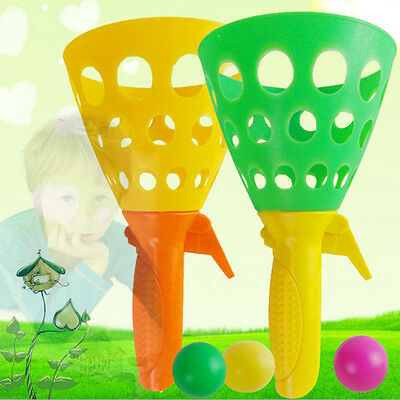 2 Pcs Catch Ball Sport Game Ball Cup Indoor Outdoor Fun Pop Toys Games Kids