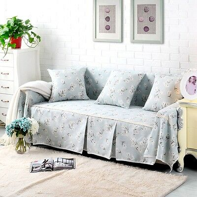 Floral Cotton Linen Slipcover Sofa Cover oukr Protector for 1 2 3 4 seater dyff