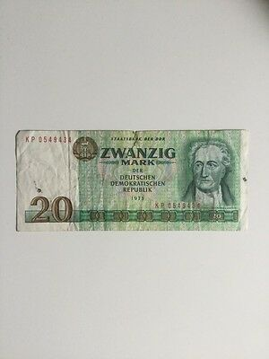 East Germany DDR GDR banknote 20 Marks