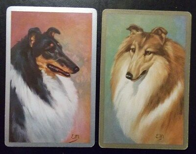 Swap playing cards    1 pair   Collie   Dogs