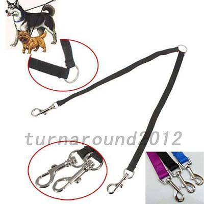 Double Dog Twin Strong Multicolor Lead Two Pet Dogs Walking Leash 100*1.5 cm