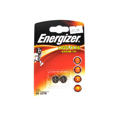 Energizer LR44/A76 Alkaline 1.5v Button Cell Twin Pack Genuine Batteries