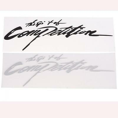 SPIRIT OF COMPETITION DECAL WHITE VINYL 150MM BY 46MM