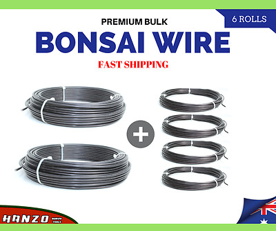 Premium Bonsai Wire BULK | New & Sealed | 6 Rolls | Free & Fast Shipping | AUS