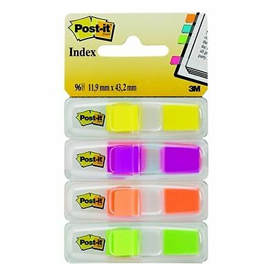 Post-it Index Small 4 Colours (24 of each) in a Clear Dispenser Lower Flag