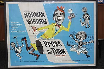 Norman Wisdom Original Large Film Poster Press For Time 1960 Professional Frame