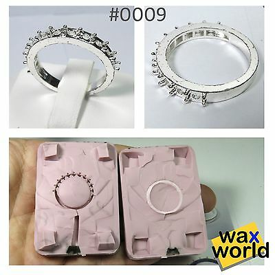 #0009 NEW Rubber Wax Casting Mold Jewelry Lost Wax Injection Casting ring