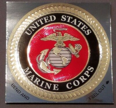"""Official Government Issue Marine Corps Usmc Emblem Epoxy Decal Sticker 4"""" Inches"""