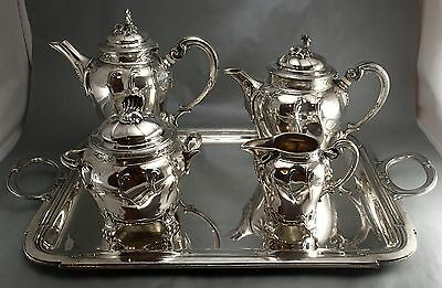 Christofle Marly Louis Xv Coffee Tea Sets Art New Nouveau Brillant Luster Silver