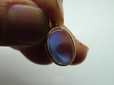 Stunning Antique Estate Edwardian Silver Gilt Moonstone Pendant