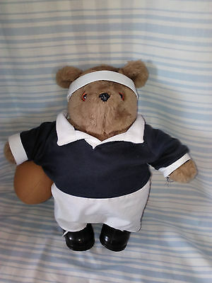 Vintage 1987 Gabrielle Paddington Teddy Bear In Rugby Costume