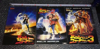 BACK TO THE FUTURE 1 2 3 1985 Pamphlet Book Movie Guide Japanese Japan Program