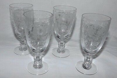 "(Set of 4) Duncan and Miller FIRST LOVE 5 1/4"" Footed JUICE Goblets"