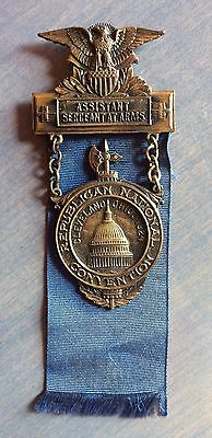 Assistant Sergeant At Arms Badge From 1924 Republican National Convention Ohio