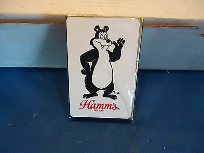 Hamms bear beer advertising figure  deck  playing cards   bar man cave