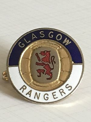 Glasgow Rangers Vintage R.f.c Ready 1980's Coffer London Badge Brooch Pin