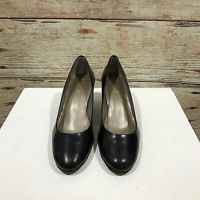 NEW VAN DAL Classic Black Genuine Leather Low Heel Court Shoes SIZE 4 37 12110