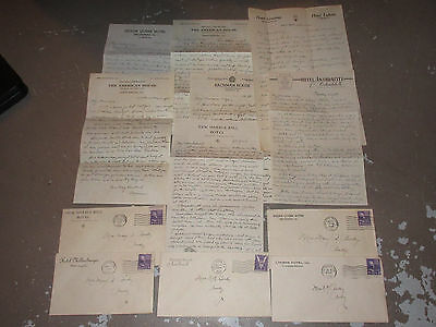 Lot of Assorted Pennsylvania Hotels Letters Letterheads Envelopes Covers c1940s
