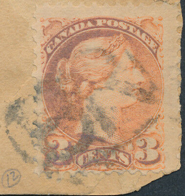 1893 'BR' Fancy Cancel on Cover, Burnt River to Toronto, Lacelle #312