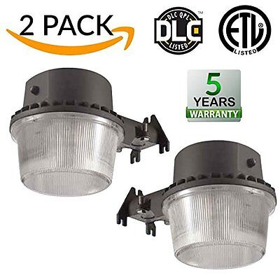 2 PACK - 35W Dusk-to-dawn LED Outdoor Barn Light, 250W Equivalent, 5000K 3500lm