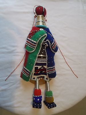 Vintage Ndebele South African Beaded Doll With Child Estate Find
