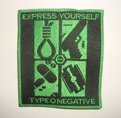 TYPE O NEGATIVE - EXPRESS YOURSELF LOGO Embroidered PATCH HIM 69 eyes Carnivore