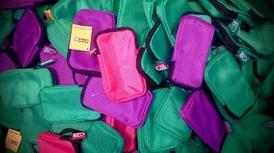 ED multi purpose zip coin card mobile carry pouch x 200 units bulk wholesale
