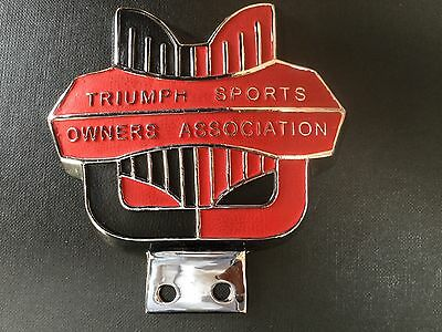 Triumph Sports Owners Association Red / Black  Car Badge
