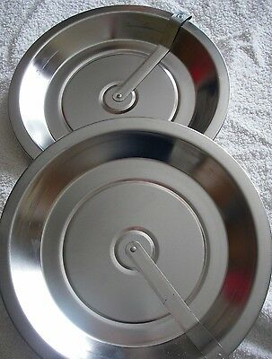 vintage pie plates with slider 10 inches x 1 inch deep