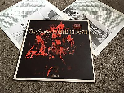 Clash - The Story Of The Clash Volume 1 - 1988 Double Lp With Inner Sleeves Ex