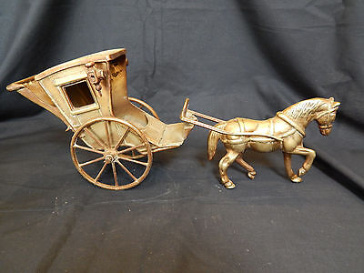 Vintage Brass Horse and Hackney Carriage
