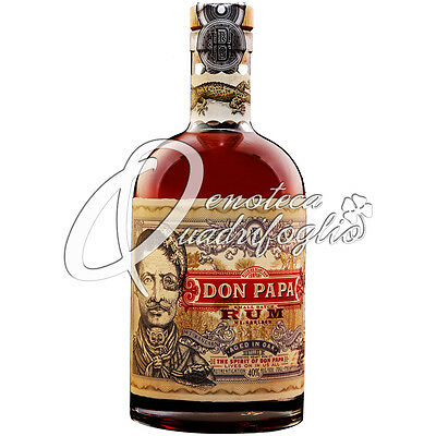 DON PAPA RUM AGED IN OAK PHILIPPINES rhum 7 jaar 70CL 40%VOL zonder case