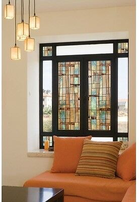 Window Privacy UV Film Decorative Artisan Stained Etched Glass Home Bathroom Art