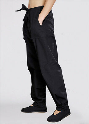 Men's Kung Fu Tai Chi Pants MMA Martial Arts Casual Performance Trousers Combat